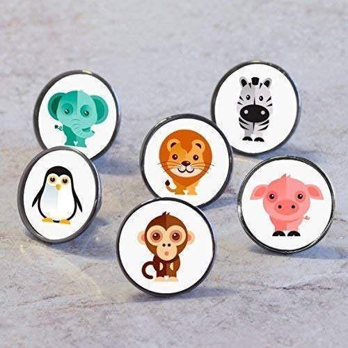 Pushka Home Pomos de Puerta para Armario de Mascotas (pingüino)
