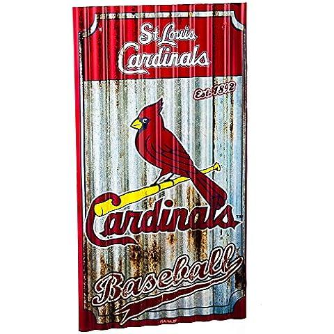 St Louis Cardinals artistica da parete in metallo, motivo ondulato