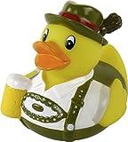 Ente auf dem Oktoberfest, der trendige Bursche mit dem Mass Bier in der Hand