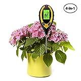 xwanli - Tester di valore PH 4 in 1, non necessita di batterie, misurazione digitale del suolo, PH acido, per giardino, piante, terra, acqua, crescita e prato, utilizzabile per interni ed esterni