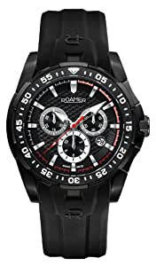 Roamer R Power Chrono Men's Quartz Watch with Black Dial Chronograph Display and Black Silicone Strap 750837 49 35 07