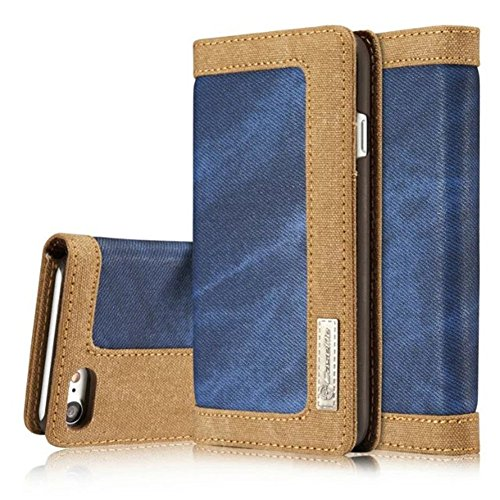 iPhone Hülle,EinsAcc Echtleder Tasche Schutztasche Hülle Case Backcover für iPhone (für iPhone 6s 4,7 Zoll, rot) blau