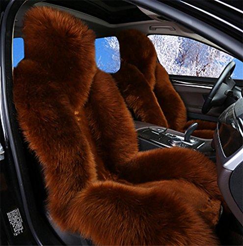 SEAT COVERS RUIRUI Coperture di Sedile in Pelle Australiana Auto Universale, Brow