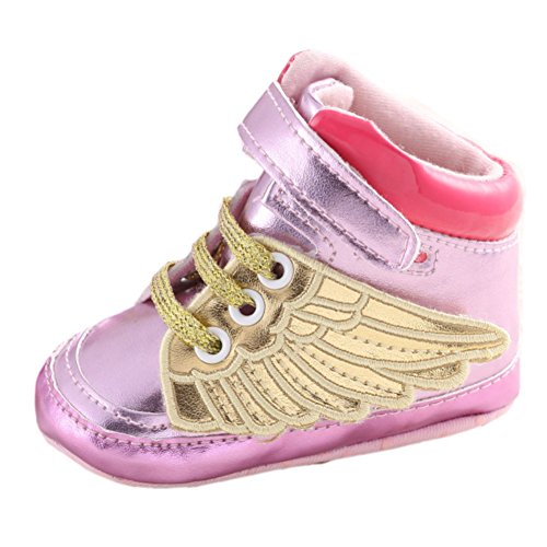 Leap Frog Sapatilha Superior Alta, Sapatos Meninos Andador Ouro Rosa