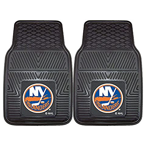 Fanmats 10464 NHL - 18 in. x27 in. - New York Islanders 2-pc Heavy Duty Vinyl Car Mat Set