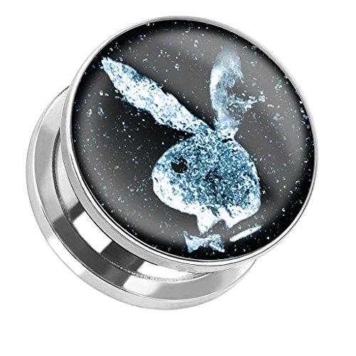 Tapsi s cool body art® playboy uomo donna plug in acciaio inox acciaio chirurgico bunny nello spazio in 9dimensioni da 6mm–25mm cbapbps230, acciaio inossidabile, cod. cbapbps230_25