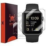 Skinomi TechSkin–Schutzfolie für Apple Watch, Apple Watch 138mm–für das Display und die Rückseite des Zifferblatt–wasserfest