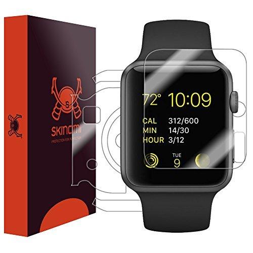 Skinomi TechSkin-Schutzfolie für Apple Watch, Apple Watch 138mm-für das Display und die Rückseite des Zifferblatt-wasserfest