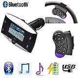 Wireless Bluetooth FM Transmitter Modulator Auto-Set MP3-Player LCD Fernbedienung Auto Elektronik Bluetooth für Kfz Som automotivo-Set MP3-Player Coche Hände frei Telefon SD/USB w/Remote Bluetooth Lenkrad Freisprecheinrichtung