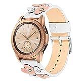 TRUMiRR Armband für Samsung Galaxy Watch 42mm, 20mm Weiches Echtes Leder Armband Einzigartiges Herz Design Frauen Uhrenarmband für Samsung Galaxy Watch 42mm