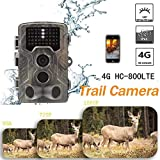 Kardu.C 4G-Jagdkamera-Überwachungskamera, HC-800 LTE unterstützt Full-Size-Fotos und kleine Videoübertragung