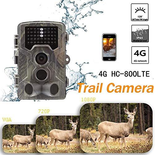 SinceY Überwachungskamera, 4G, Überwachungskamera HC-800LTE, volle Größe, Überwachungskamera, 42 LEDs, 14 MP, 1080P, HD, 22 m, Weitwinkel, 120 ° 1080p-hd-42
