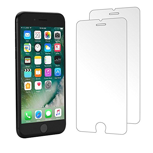 Verre Trempé iPhone 8 Plus 7 Plus,(Lot de 2) Foho Film Protection en Verre trempé écran Protecteur Vitre-ANTI RAYURES-SANS BULLES D'AIR-Ultra Résistant Dureté 9H Glass pour iPhone 8 Plus 7 Plus