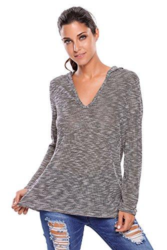 VIGVOG - Sweat-shirt - Femme gris gris Noir
