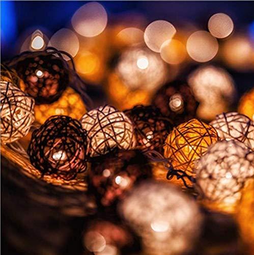 Explosion grau schwarz Rattan Ball Lichter Blinklichter wasserdicht Outdoor Indoor Urlaub Garten Party Dekoration 5 Meter 30 Lichter LED leuchtet Zeichenfolge