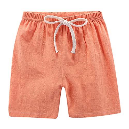 Pantalones Cortos Lino Niños Shorts Finos Casuales