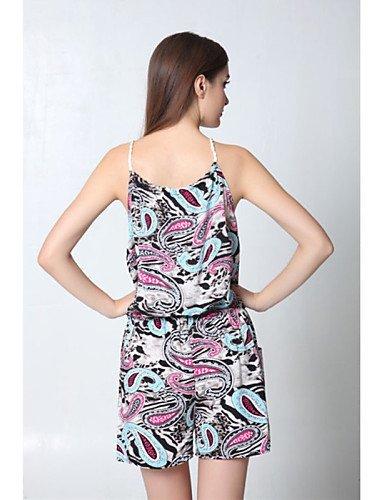 GSP-Combinaisons Aux femmes Sans Manches Sexy / Décontracté Coton Opaque Micro-élastique multi-color-m
