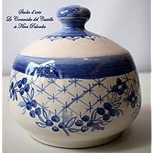 Nascondispugna Linea Classica Blu per Cucina e Bagno Handmade Le Ceramiche del Castello 100% Made in Italy