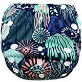 Ocamo Kidlove Cartton Digital Printing Swimming Pants Washable Soft Cloth Diaper for Baby Infant from 7 to 33 Pounds