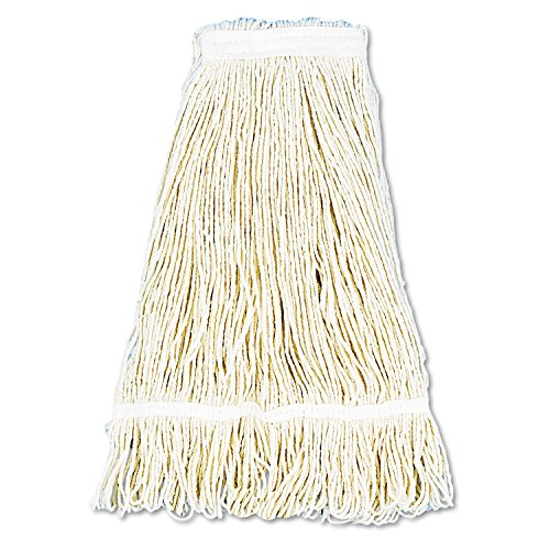 Pro Loop Web/Tailband Wet Mop Head, Cotton, 24oz, White, Sold as 1 Each