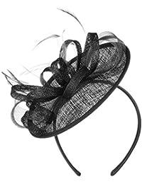 McBURN Tocado Siglietta Sinamay by Sombrero de ocasión especialsombrero  Boda Especial 599de5cd287