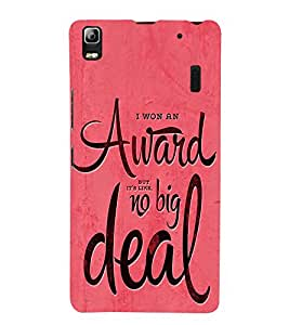FUSON Won Award Big Deal 3D Hard Polycarbonate Designer Back Case Cover for Lenovo A7000 :: Lenovo A7000 Plus :: Lenovo K3 Note
