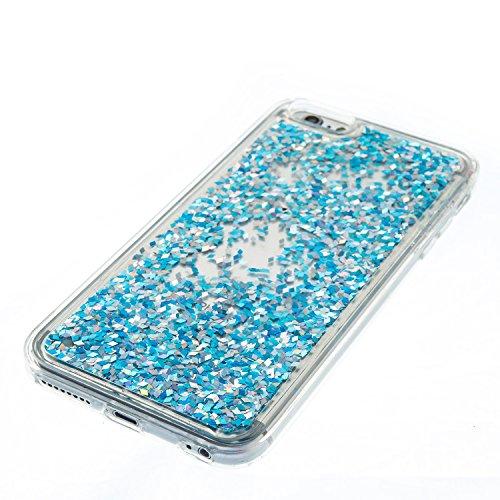 Cover iPhone 6s plus Custodia iphone 6 plus Silicone Sabbie Mobili Leton Morbido TPU Gel Liquido Fluttuante Case per Apple iPhone 6s plus / 6 plus (5.5 pollici) Ultra Sottile Flessibile Satinato Gomma Blu Diamond