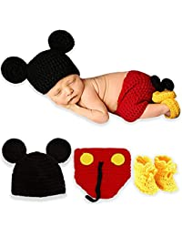 1b54549c680 Bembika Baby Boy s and Baby Girl s Lovely Knitted Chunky Photography Prop  (Red