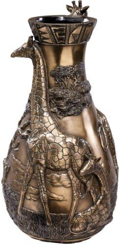 43,18 cm fauna africana Escultura estatua florero