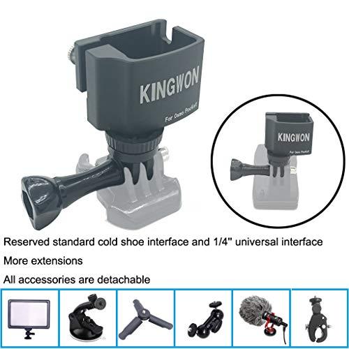 DJI KINGWON OSMO Pocket Drone Zubehör ❤ Multifunktionaler Erweiterungsmodul Adapter Stativhalter Kopf Halterung 1/4 Schraube Kamera Adapter für DJI Osmo Pocket (A)