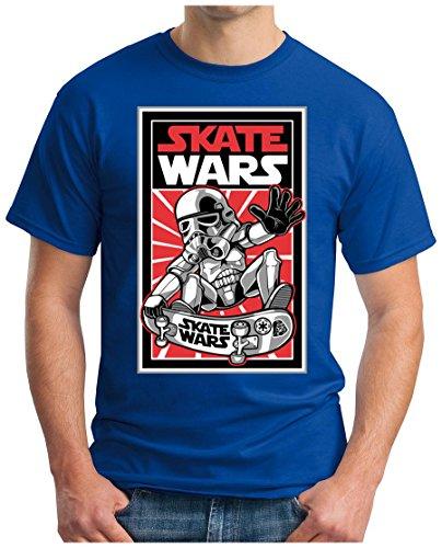 OM3 - SKATE-WARS - T-Shirt, S - 5XL Royalblau