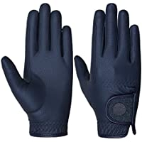 Riders Trend Equestrian Stretchable Digital-serino with Glittery Strap Guantes de equitación, Mujer