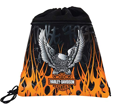 Harley Davidson Turnbeutel, Schwarz/Orange