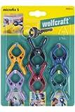 Wolfcraft 3420000 Microfix Micro-pince à ressort 20 mm Parme/Orange/Rouge/Vert/Bleu/Noir
