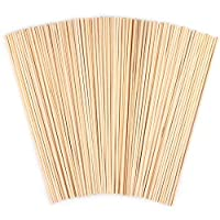 100 Pack Wooden Round Sticks, ANSUG Unfinished Natural Bamboo Dowel Rods for DIY Crafts Model Projects Making Building Model Kids Educational Toys(4mm*30cm)