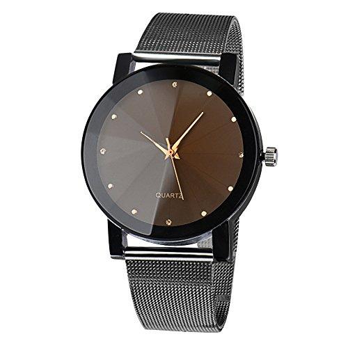 Herren Uhren FGHYH Neu Luxusuhren Quarzuhr Edelstahl Zifferblatt Beiläufige Armbanduhr(A-27)
