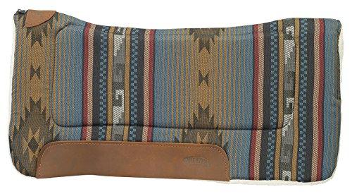 Weaver Leder alle Zweck 81,3x 81,3cm Konturierte Sattel Pad mit Filz Einsatz und Merino Wolle Fleece Unterseite, n/a, Blue Navajo, 32