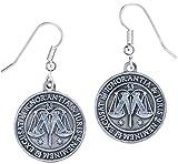 Harry Potter Ministerio de magia símbolo pendientes plata