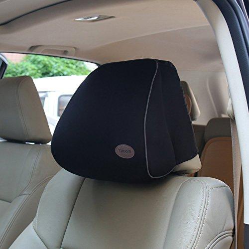 Auto Kissen mit Memory-Schaum, Timorn nackenkissen auto für das Fahren, Auto Kopfstütze Kissen für Autositz, nackenkissen kopfstütze (schwarz)