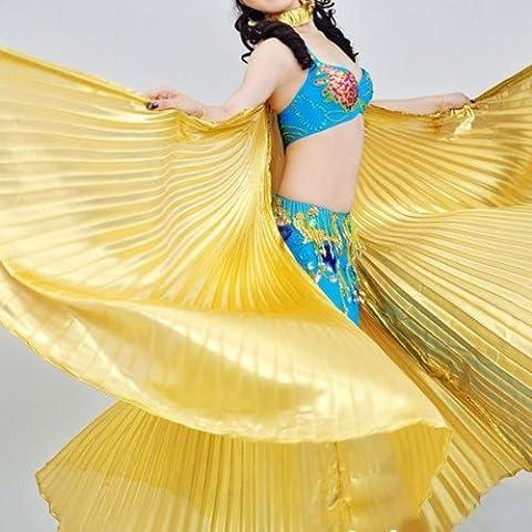 Ailes d'Isis Dorees en Lame pour la Danse Orientale 165cm