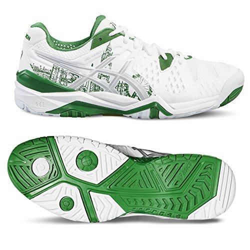 Chaussure Gel Resolution 6 Limited Edition London Tennis Asics Hommes Blanc/Vert/Argent