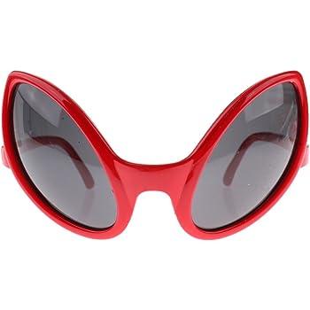 34864f6f834d09 Sharplace Lunettes de Soirée Carnaval Lunettes Extraterrestre pour Adultes  Accessoire Déguisements Halloween - Rouge