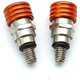 Yunshuo Fourchette Air valves de purge de purgeur de 43mm 48mm M4x 0,7mm en alliage de modèles Orange