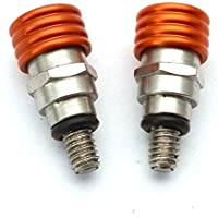 yunshuo horquilla purgador de aire Válvulas de purga 43mm 48mm M4x 0,7mm aleación de modelos, color naranja