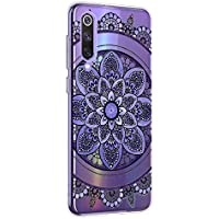 Oihxse Mandala Flores Encaje Patrón Serie Case Compatible con Huawei Nova 5z Funda TPU Silicona Suave Protector Ultra Slim Anti-Rasguño Transparente Carcasa (A1)