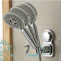 Yulakes - Supporto doccia a ventosa regolabile, non serve forare il muro/ Supporto soffione doccia/ Supporto doccia a mano/ Soffione doccia