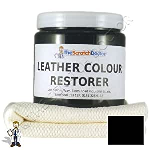 250ml Leather Colour Restorer for Leather Sofas, Chairs, etc. (Black)