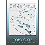 Bad Ass Copy Cat Stencil - Impronte 9043, Sottile, Flessibile, High Grade Mylar, Viso Riutilizzabile Pittura Stencil, Grande Airbrush, Pennello, Spugna Application