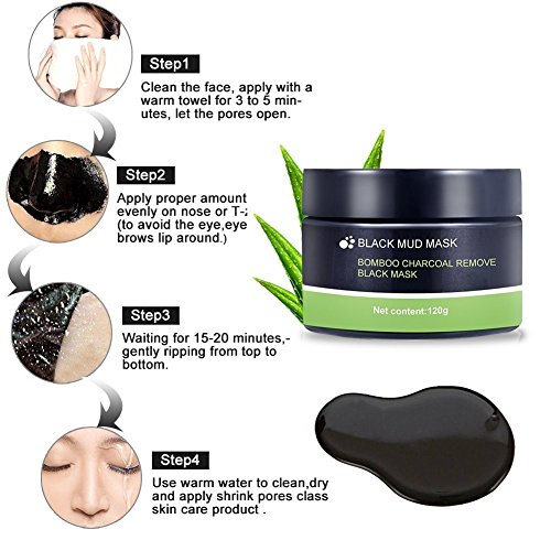 Black Mask,Peel Off Mask,Mitesser Gesichtsmaske,Peel off Mitesser Maske,Peel Off Schwarz Gesichtsmaske, Reinigungsmaske,Tiefenreinigung Maske Entfernen Akne,120g