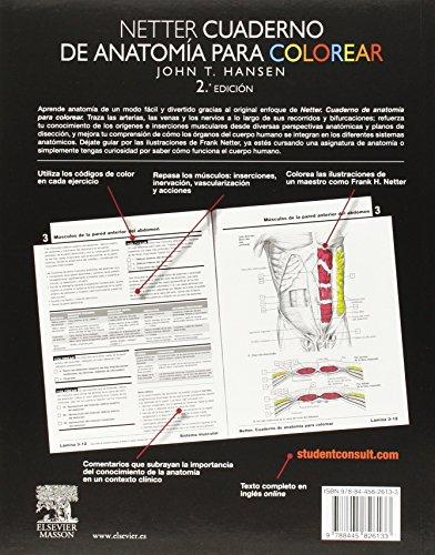 Copertina del libro Netter. Cuaderno De Anatomía Para Colorear - 2ª Edición (+ StudentConsult)